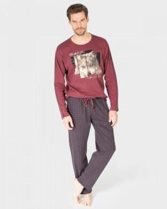 pijama-hombre-algodon-lobo