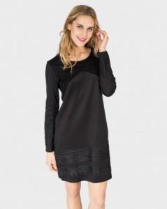 vestido-mujer-negro-manga-larga